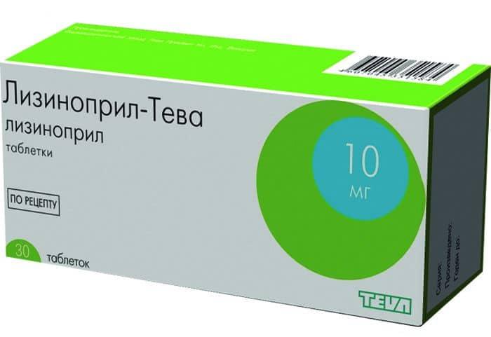 Таблетки Лизиноприл-Тева