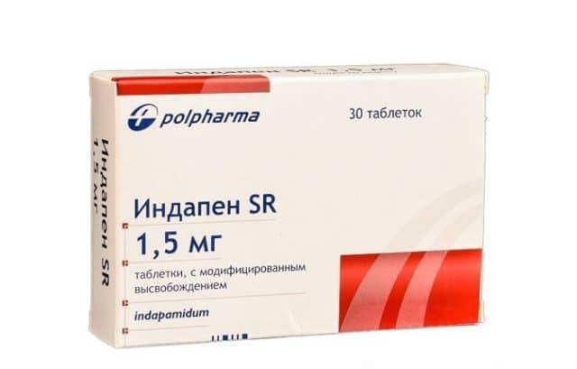 При применении препарата Индапен отмечается постепенное снижение артериального давления