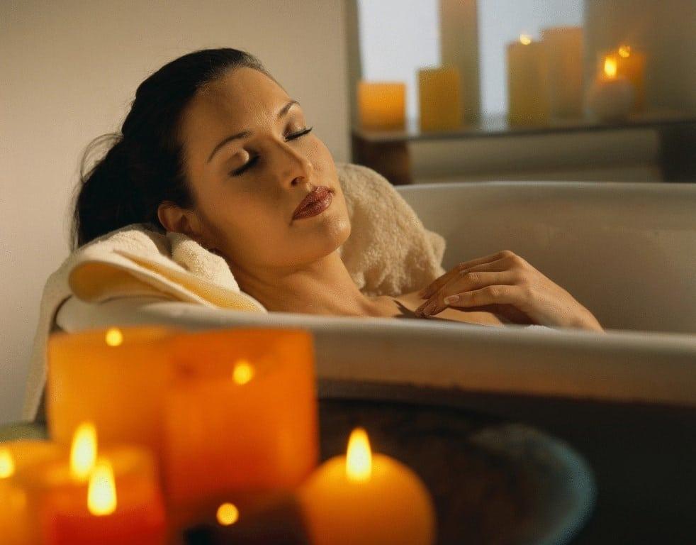 Теплая и расслабляющая ванна